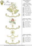 Christmas Straight Border Set Embroidery Motif - 14 - Sparkling Christmas Collection by Sue Box