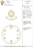Christmas Circular Bauble Border Embroidery Motif - 17 - Sparkling Christmas Collection by Sue Box