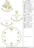 Christmas Circular Borders Set - Embroidery Motif - 23 - Sparkling Christmas Collection by Sue Box