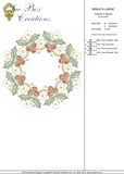 Christmas Wreath Large - Embroidery Motif - 24 - Sparkling Christmas Collection by Sue Box