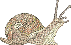 Snail Embroidery Motif - Natures Pals by Sue Box