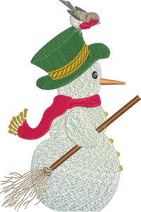 Snowman Embroidery Motif by Sue Box