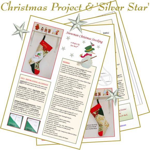 Snowman Christmas Stocking Project