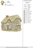 Thatched Cottage Embroidery Motif - 02 -  Traditional Homes and Gardens - by Sue Box