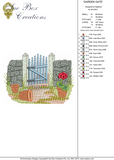 Garden Gate Embroidery Motif - 23 - Traditional Homes and Gardens - by Sue Box