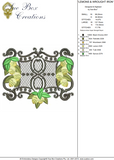 Lemons and Wrought Iron Embroidery Motif - 26 - Traditional Homes and Gardens - by Sue Box