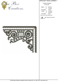 Wrought Iron Corner 1 Embroidery Motif - 28 - Traditional Homes and Gardens - by Sue Box