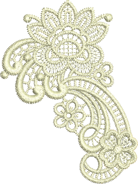 Lace - Taj Embroidery Motif by Sue Box
