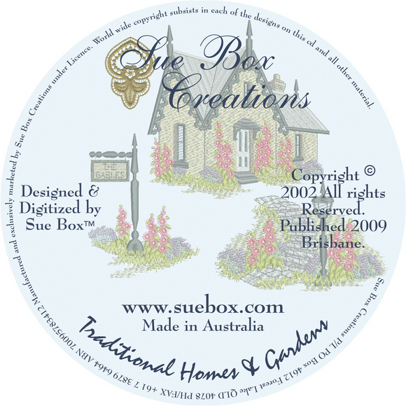 16 - Traditional Homes & Gardens Collection by Sue Box on CD
