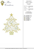 Christmas Tree Design 2 - Embroidery Motif by Sue Box