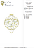 Christmas Bauble Design 3 - Embroidery Motif by Sue Box