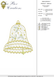 Christmas Bell Design 4 - Embroidery Motif by Sue Box