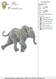 Elephant Run Embroidery Motif - 17 - Zoo Babies by Sue Box