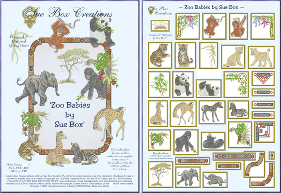 Zoo Babies collection by Sue Box - Full Download