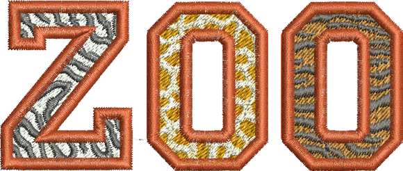 Zoo Embroidery design