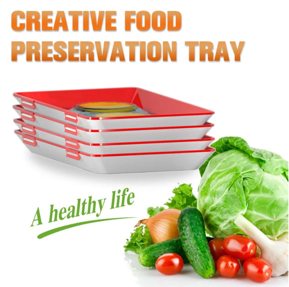 Food Preservation Tray - 3 Pack
