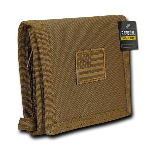RAPDOM USA US American Flag Tactical Patriotic Military Trifold Wallet Money Holder