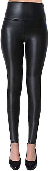 VIV Collection Womens Sexy Tight Fit Faux Leather High Waisted Leggings