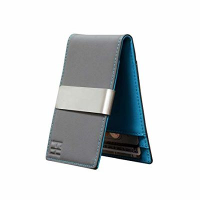 F&H Slim Bi-fold Wallet Money-Clip-Holds 8 Cards