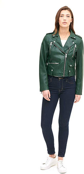 Levi's Women's Plus Size Faux Leather Contemporary Asymmetrical Motorcycle Jacket
