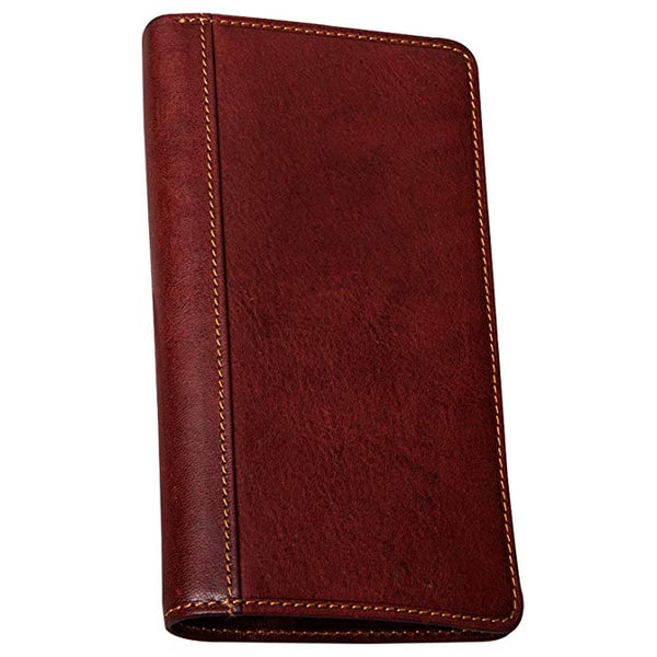 Tony Perotti Large Leather Bifold Wallet Breast Pocket Checkbook Organizer with ID Window Multi Business & Credit Card Slots for Men and Women made with Real Italian Cowhide Leather