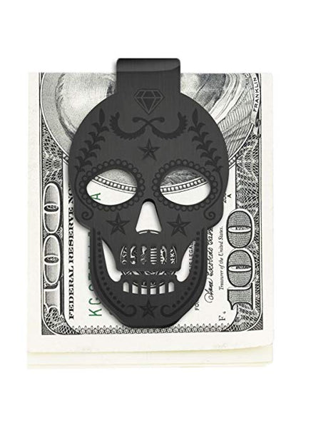 Pars Outdoor Stainless Steel Skull Money Clip Wallet