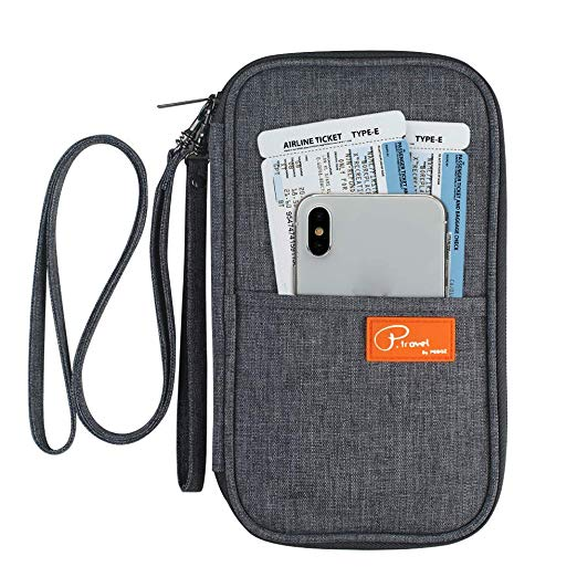 Travel Wallet Passport Holder, RFID Document Organizer by FLYMEI