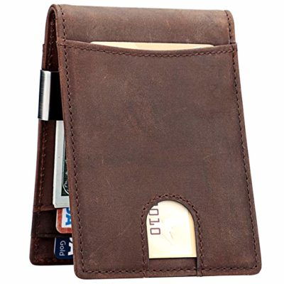 Lavemi Money Clip Wallet for Men Slim Front Pocket RFID Blocking Card Holder Minimalist Bifold Wallet