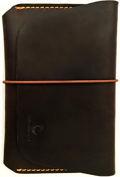 Genuines Leather Passport Holder for Men & Women - Genuines Wallet Case for 1 or 2 Passports