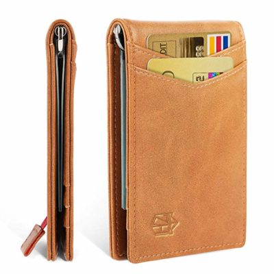 Zitahli Minimalist Slim Bifold Front Pocket Wallet with Money Clip for men, Effective RFID Blocking & Smart Design