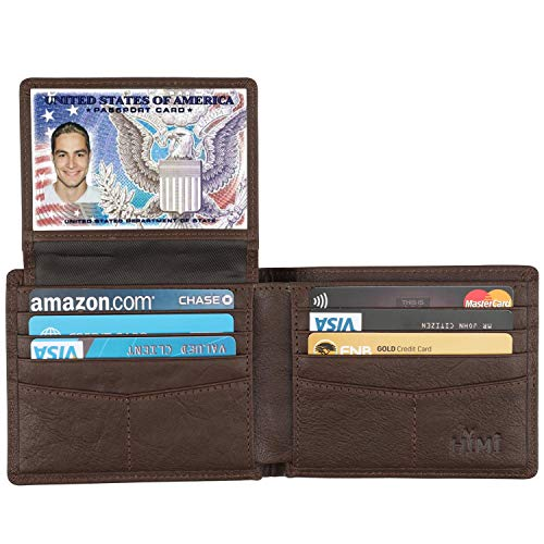 HIMI Wallet for Men-Genuine Leather RFID Blocking Bifold Stylish Wallet With 2 ID Window