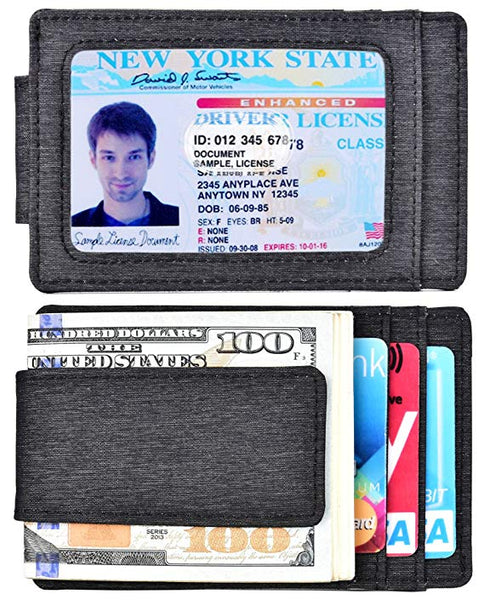 kinzd Money Clip, Front Pocket Waterproof Wallet, Leather RFID Blocking Strong Magnet thin Wallet