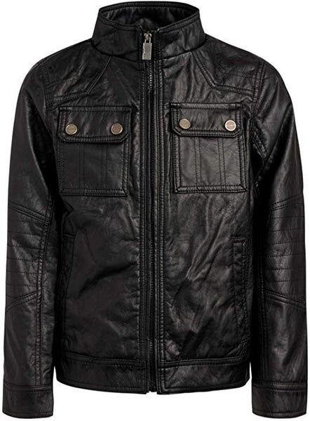 Urban Republic Boy's Faux Leather Officer Jacket