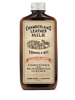 Chamberlain's Leather Milk Leather Milk Conditioner and Cleaner for Furniture, Cars, Purses and Handbags. All-Natural, Non-Toxic Conditioner Made in the USA. Leather Care Liniment No. 1. 2 Sizes. Includes Premium Applicator Pad