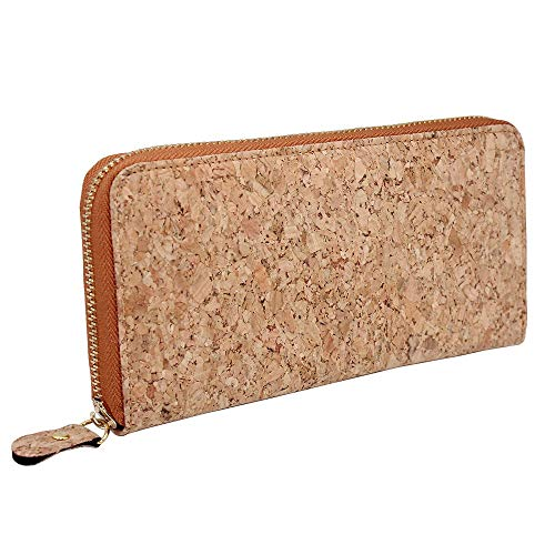 Boshiho Vegan Cork Wallets Purse Handbags for Womens Eco Friendly Cork Cell Phone Clutch Bag