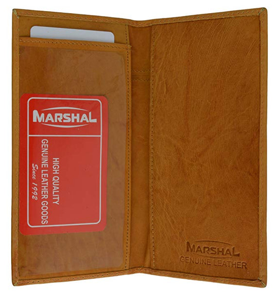 Marshal Brand New Hand Crafted Genuine Soft Leather Checkbook Cover simple-156