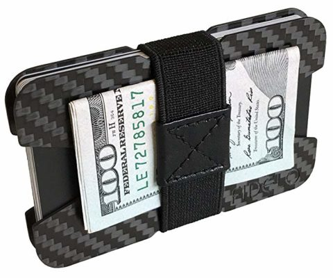 FIDELO Carbon Fiber Minimalist Wallet - Slim Credit Card Holder Money Clip Wallets for Men - Designed for Front Pocket EDC & Travel