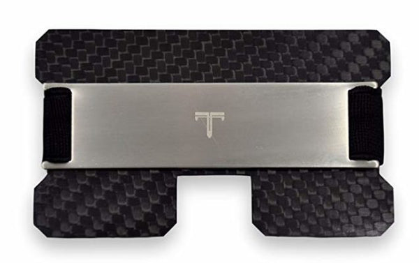 Tribe Carbon Fiber RFID-Blocking Minimalist-Card Wallet