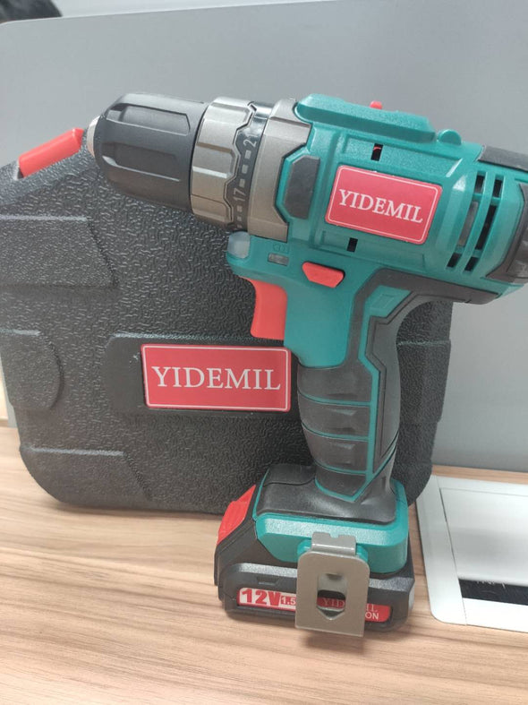 YIDEMIL Cordless Drill Driver 12V, Power Drill Set 330 In-lb Torque with 1500mAh Li-Ion Battery, 1H Fast Charging, 21+1 Clutch