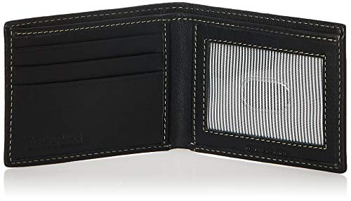 Timberland Men's Blix Slimfold Leather Wallet, Black, One Size