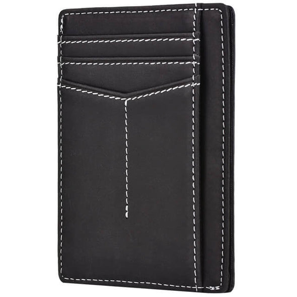 Black slim wallet rfid