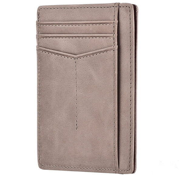 Gray slim wallet rfid