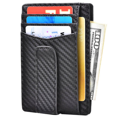 Carbon Fiber Money Clip Front Pocket Wallet