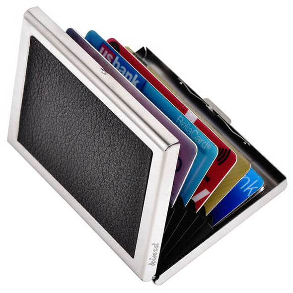 thin aluminum metal wallet