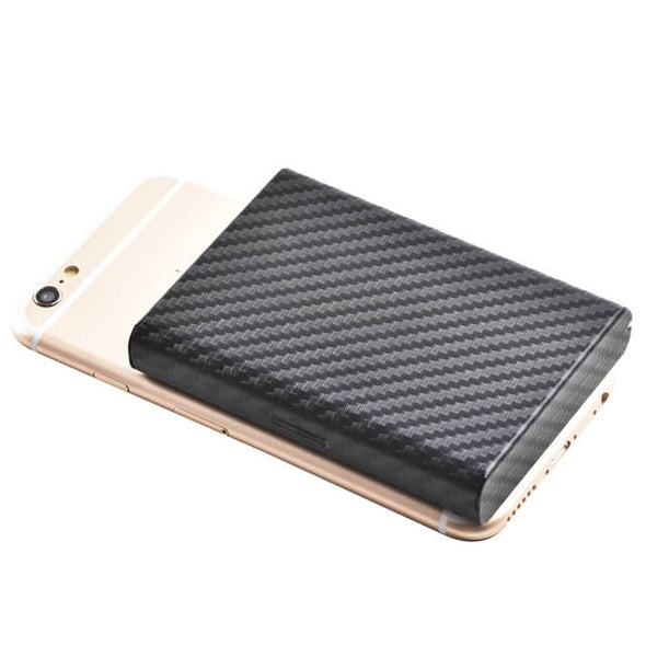 Carbon Fiber Minimalist Metal Card Holder Stainless Steel Wallet