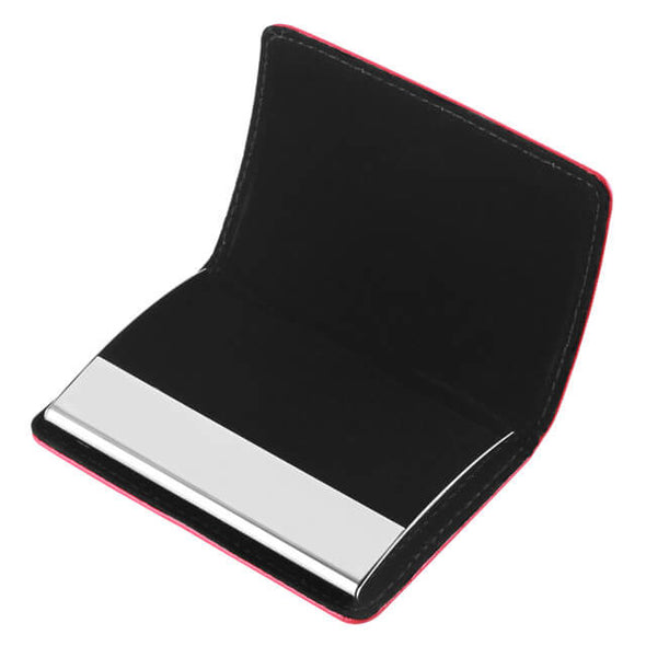 slim leather business card holder