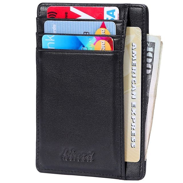 ab2b29d0d1b5 Slim Wallet with ID Window RFID Front Pocket Wallet – Kinzd