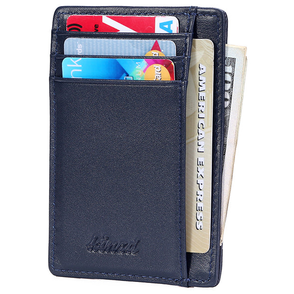 minimalist leather front pocket wallet