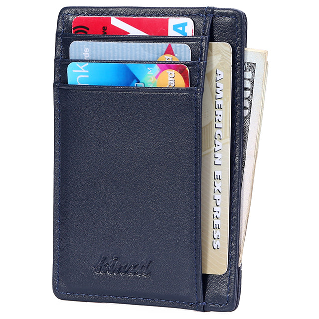 Wallets Clothing, Shoes & Accessories Women's Slim Credit Card Holder Leather Pocket Money Wallet Blocking NEW Purple
