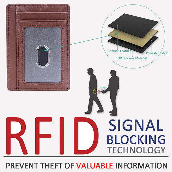 Rfid Blocking Travel Slim Wallet